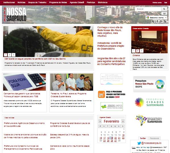 Conheça o novo site da Rede Nossa São Paulo, mais objetivo, mais intuitivo
