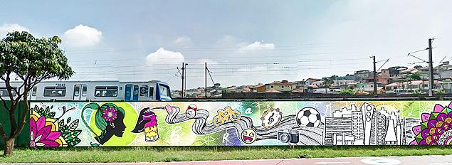 São Paulo terá 4 km de grafite na zona leste para a Copa do Mundo