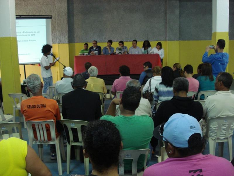 População apresenta demandas para serem incluídas no orçamento de 2015