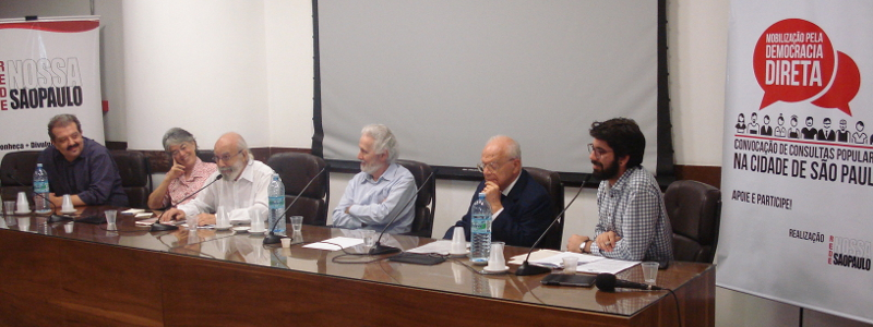 Evento dá início à mobilização para regulamentar plebiscito na cidade