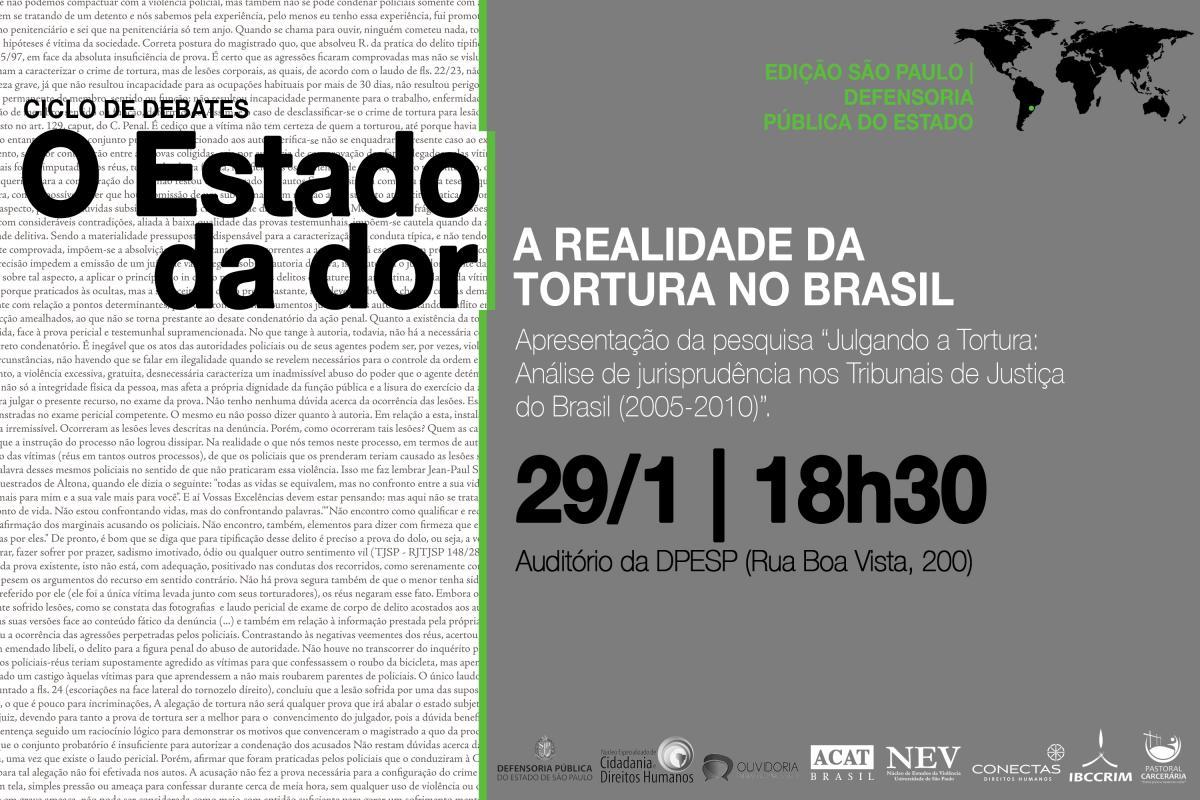 Ciclo de debates e estudo inédito lançam luz sobre a realidade da tortura no Brasil