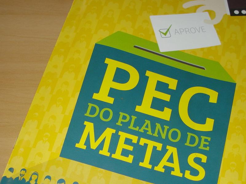Programa Cidades Sustentáveis divulga material em apoio à aprovação da PEC das Metas