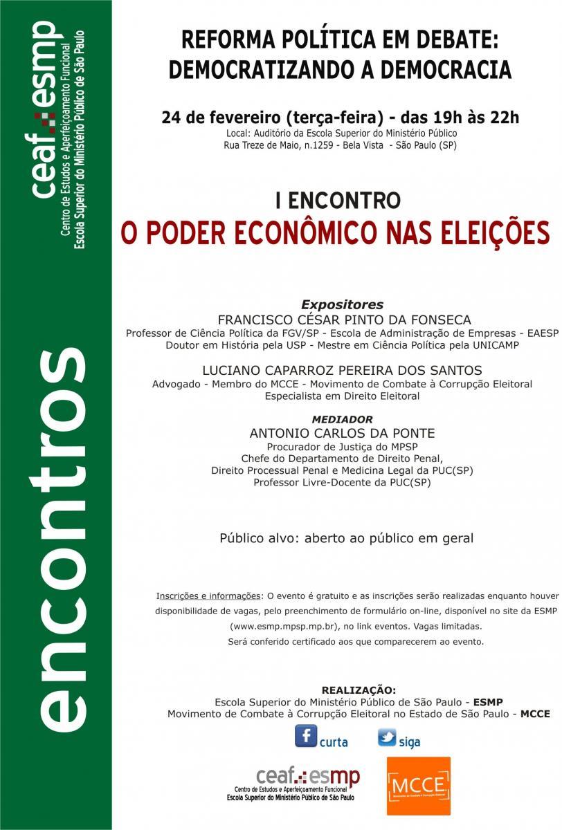 Reforma política em debate: O poder econômico nas eleições