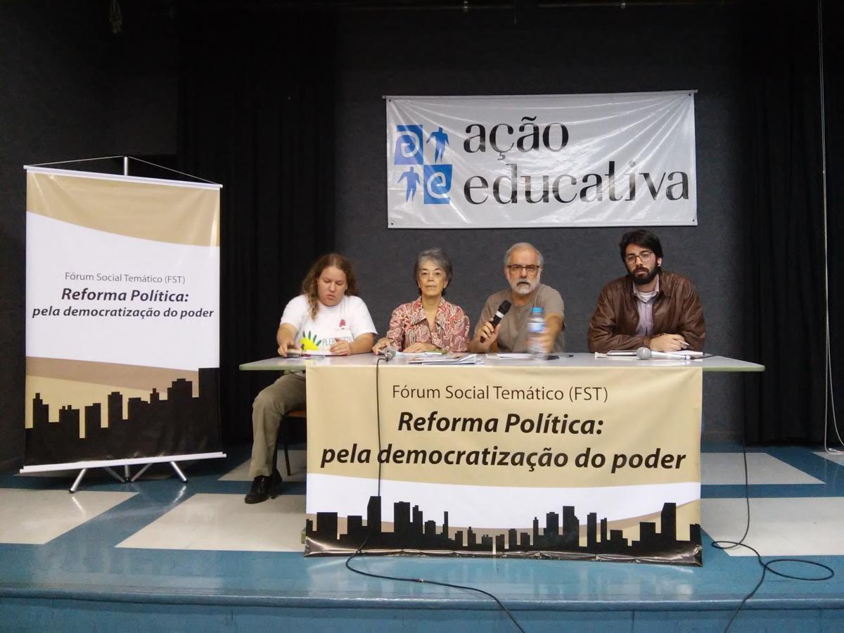 Organizações avançam na construção do Fórum Social Temático – Reforma Política