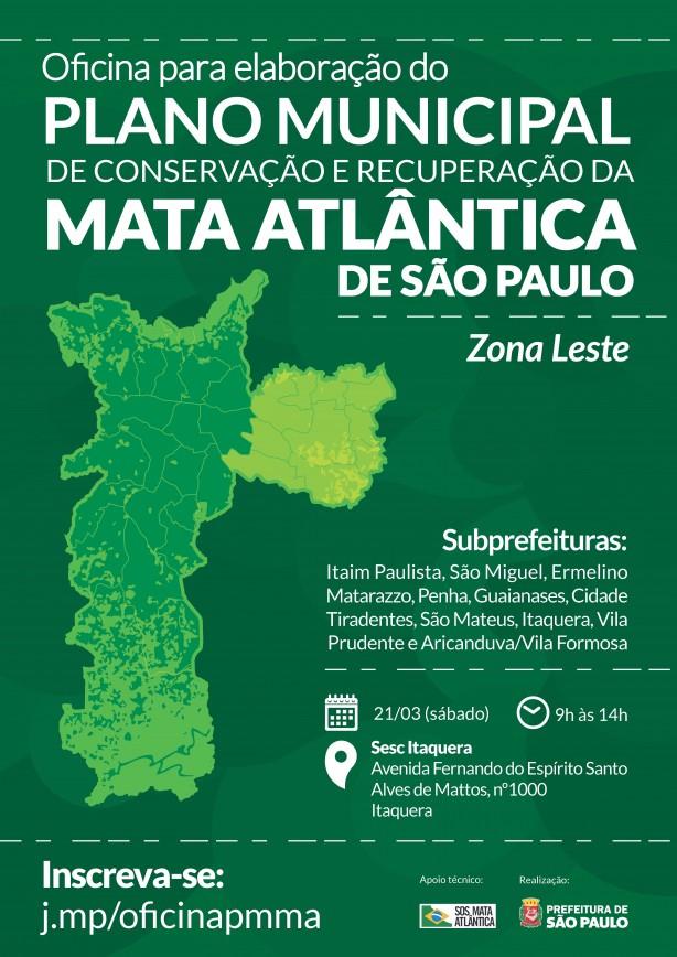 Oficina na Zona Leste para elaboração do Plano Municipal de Mata Atlântica será sábado
