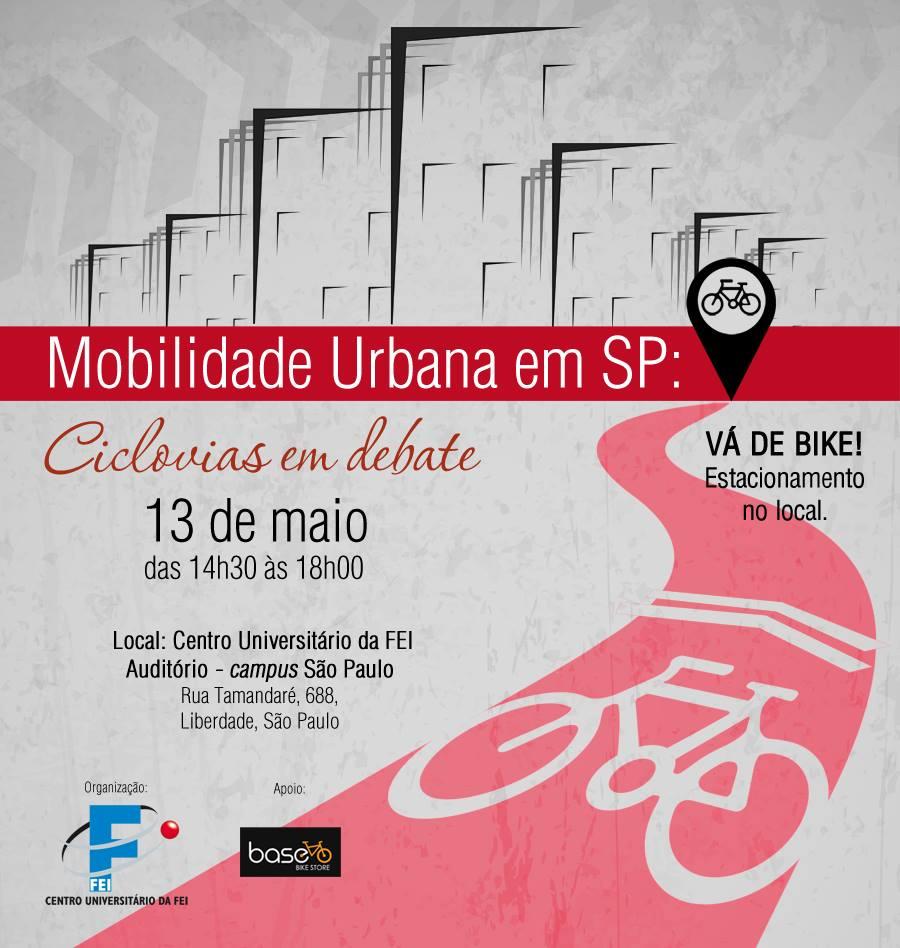 Evento promovido pela FEI debaterá a implantação das ciclovias na cidade de São Paulo