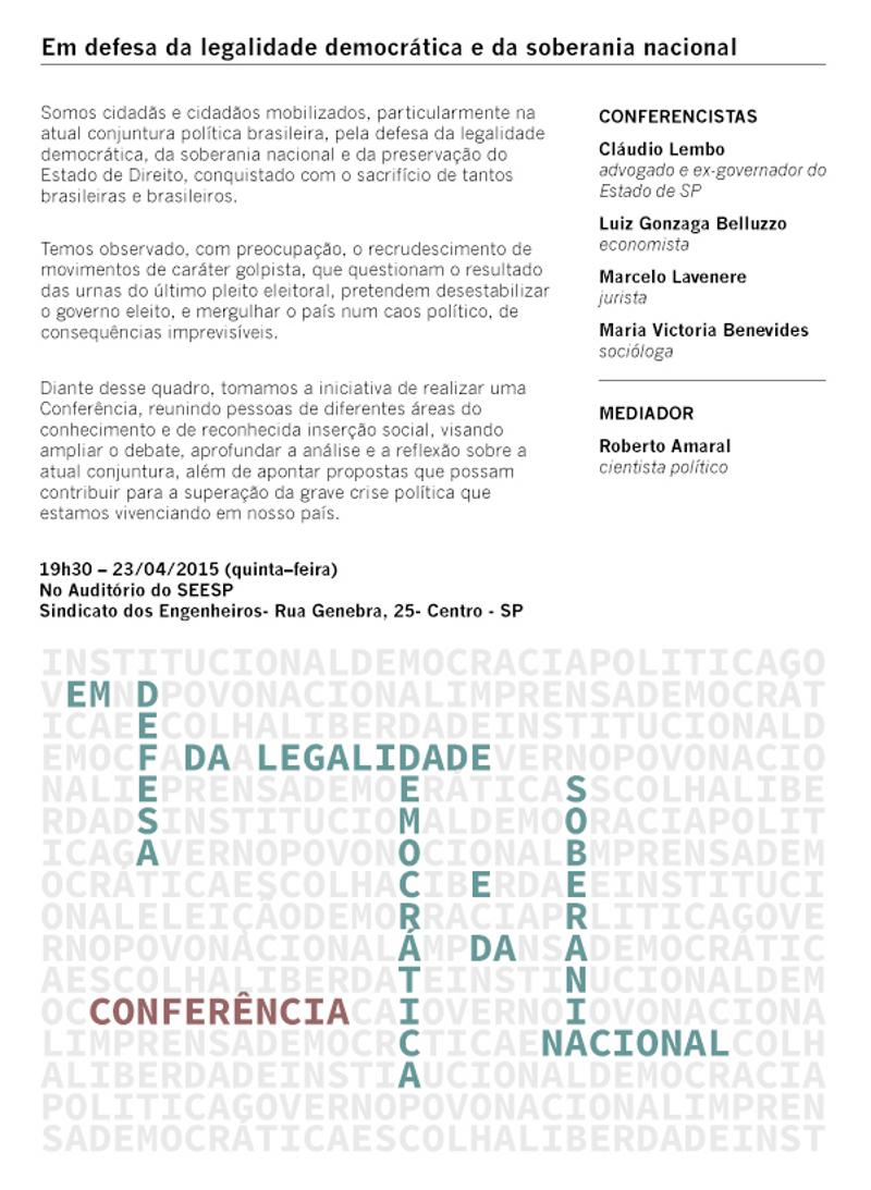 Conferência em defesa da legalidade democrática