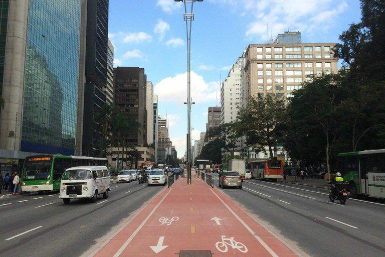 Ciclovia da avenida Paulista é um marco para o País