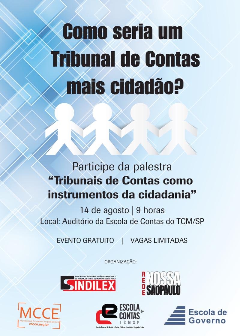 Palestra: Tribunais de contas como instrumentos da cidadania