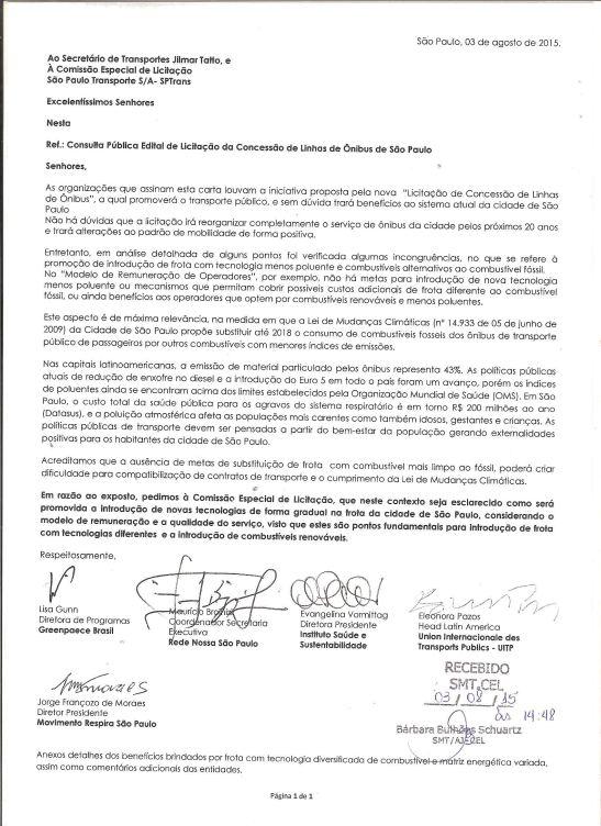 Licitação de São Paulo: organizações elaboram documento para frota limpa