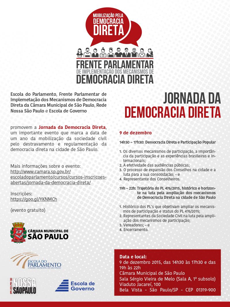Jornada da Democracia Direta reúne especialistas em São Paulo