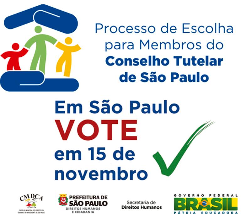Novos conselheiros tutelares de São Paulo serão escolhidos domingo