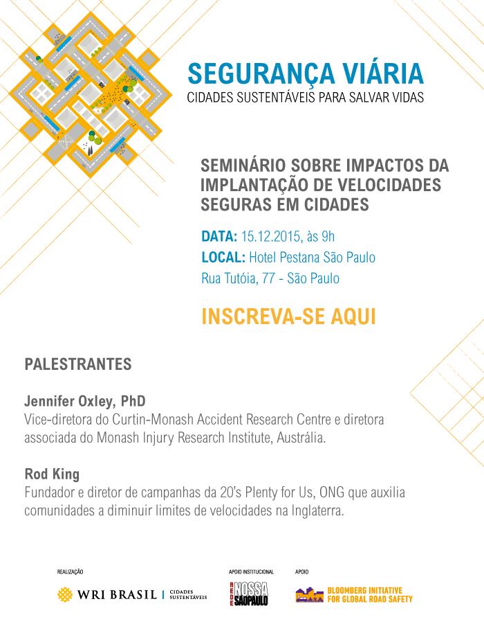 WRI Brasil promove evento sobre Segurança Viária em São Paulo