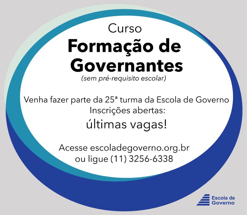 Última reunião de apresentação do curso Formação de Governantes e da Escola de Governo