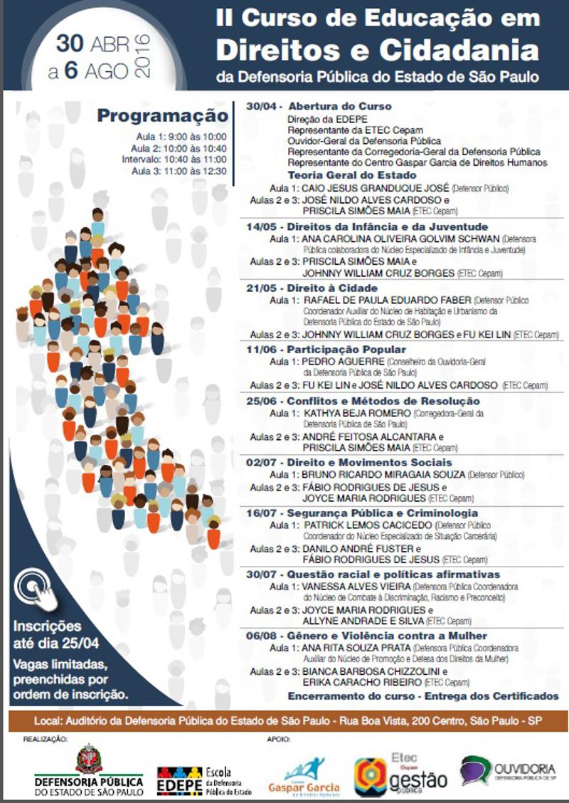 II Curso de Educação em Direito e Cidadania