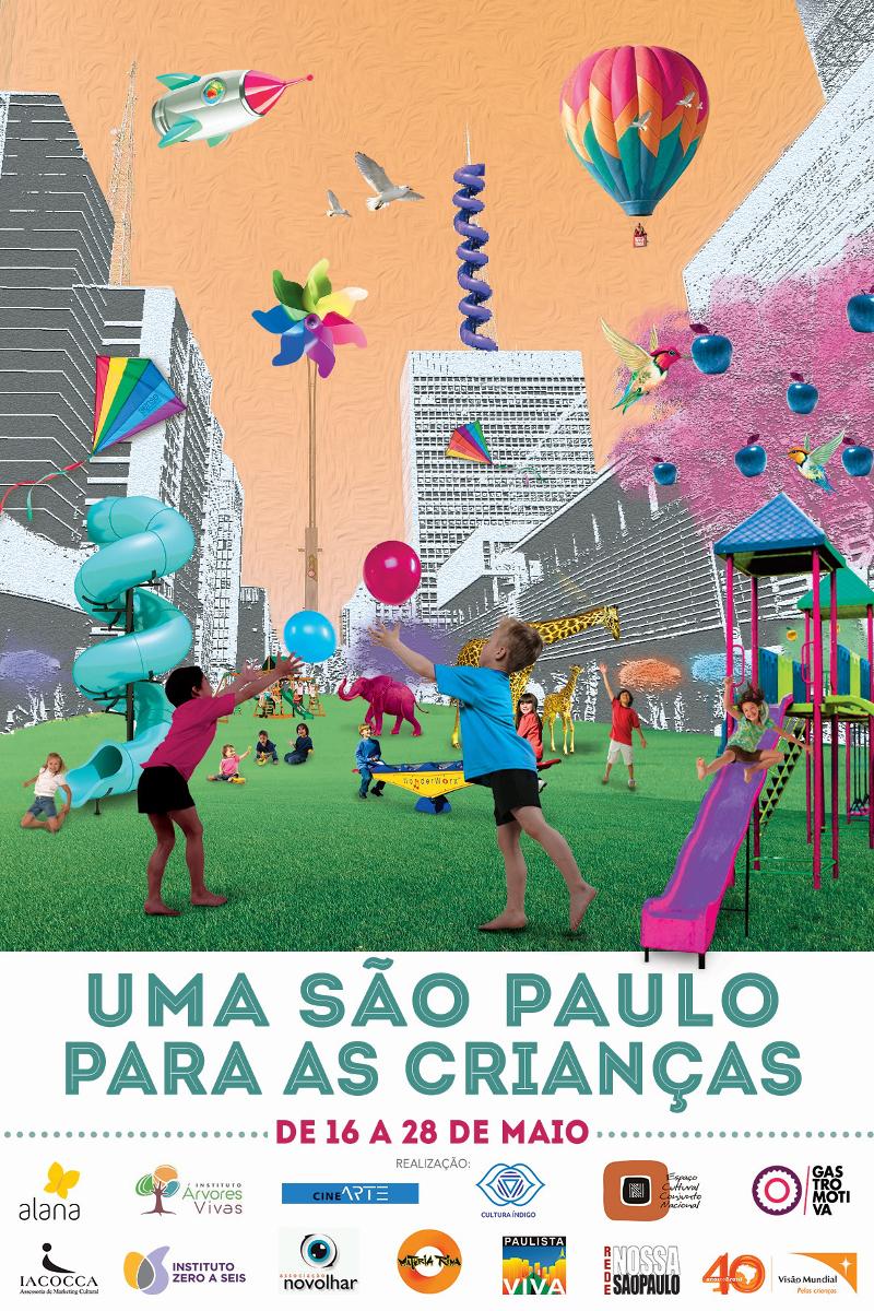 """Evento """"Uma São Paulo para as Crianças"""": programação para pais e filhos vai até o dia 28 de maio"""