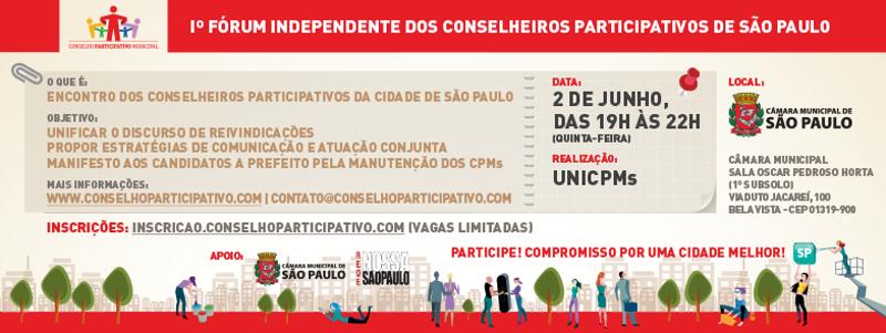 1º Fórum Independente dos Conselheiros Participativos de São Paulo