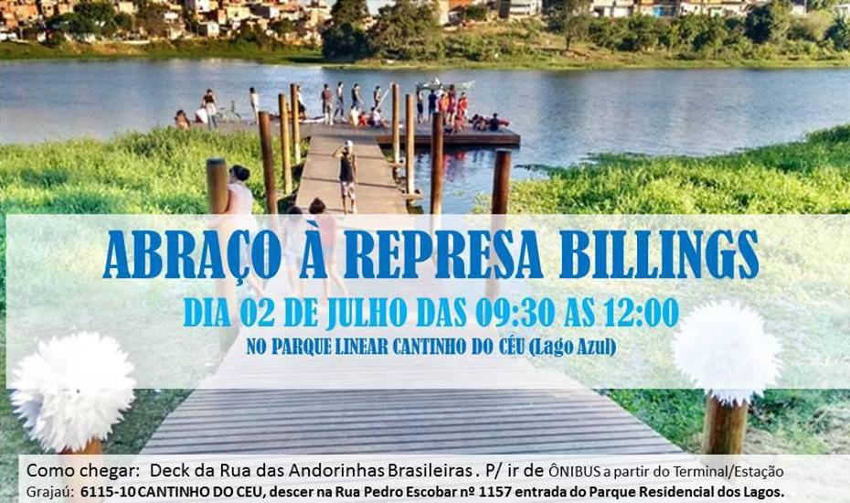 Abraço à Represa Billings será neste sábado