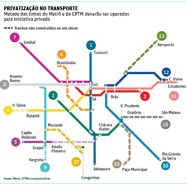 Governo Alckmin prepara agência para regular linhas de metrô e trens