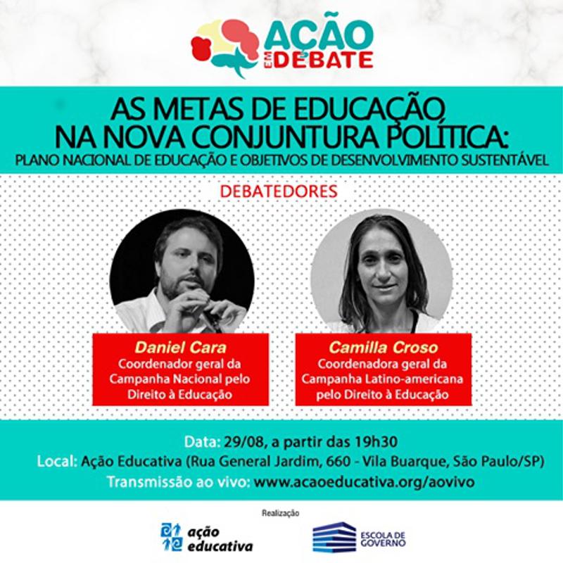 Convite para debate: As metas da educação na nova conjuntura política