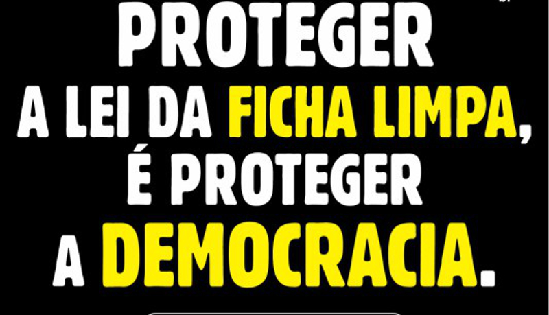Movimento de Combate à Corrupção Eleitoral divulga nota pública em defesa da Lei da Ficha Limpa