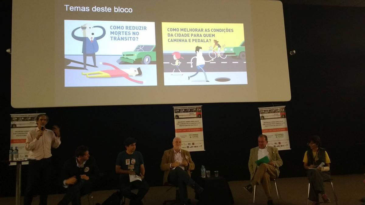Candidaturas debatem mobilidade em São Paulo