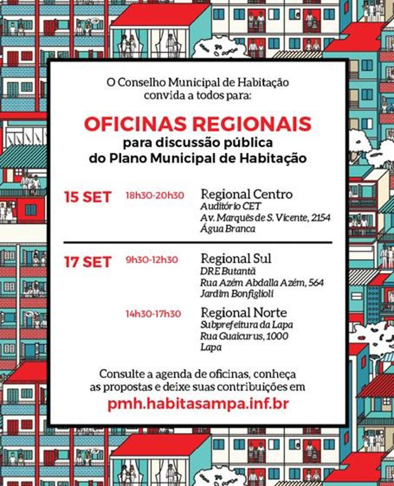 Oficinas públicas sobre o Plano Municipal de Habitação