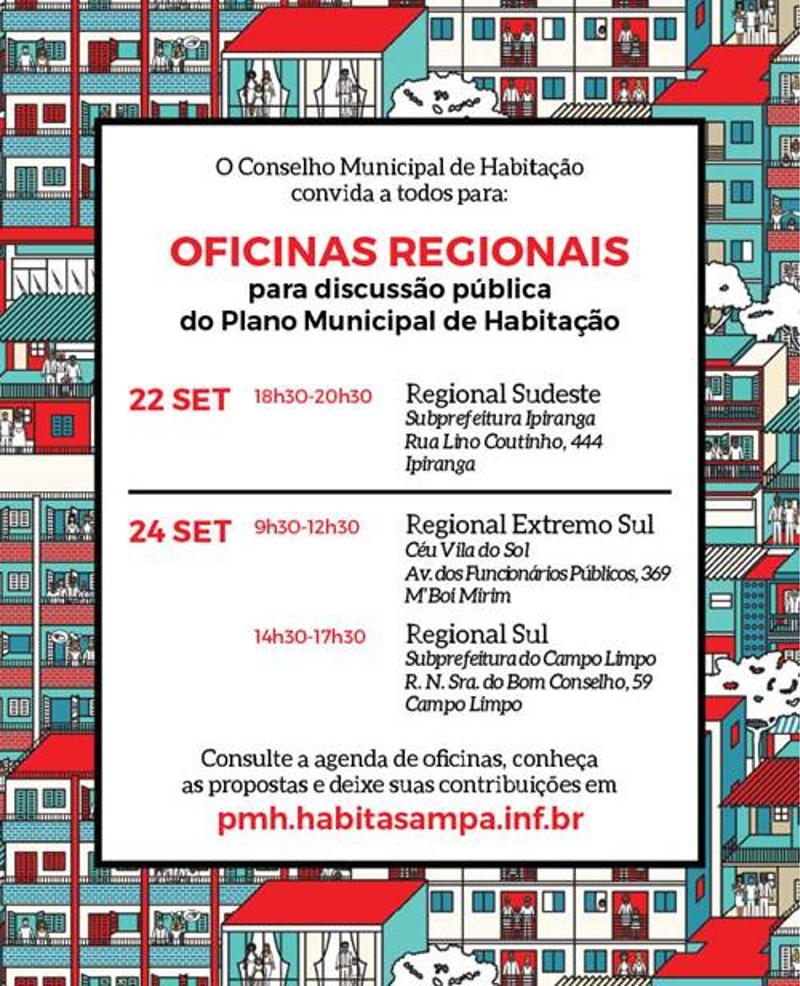 Oficinas públicas regionais sobre o Plano Municipal de Habitação