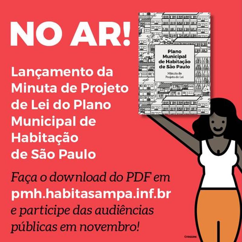Minuta do projeto de lei do Plano Municipal de Habitação está aberta para consulta pública