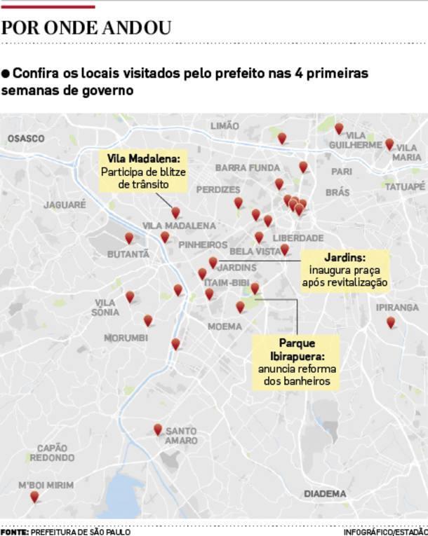 Doria prioriza região central de São Paulo no 1º mês