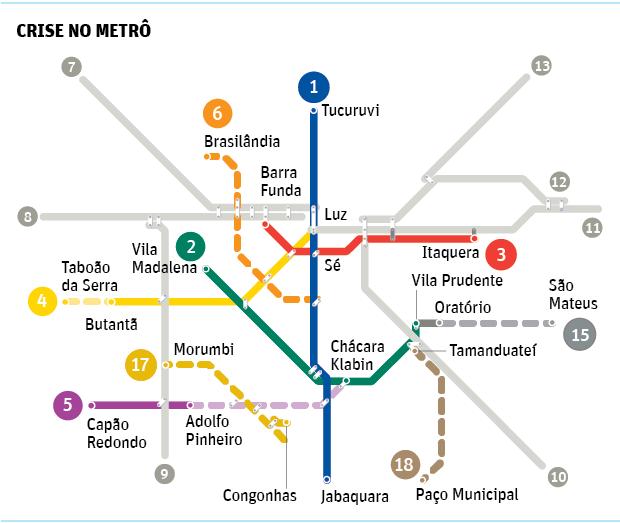 Metrô de Alckmin esvazia verba para operação e modernização da rede