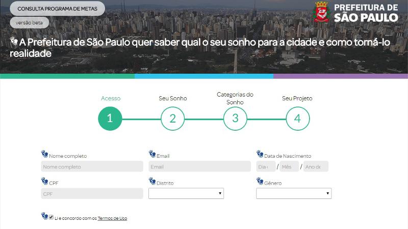 Paulistanos podem apresentar sugestões para o Programa de Metas de São Paulo 2017-2020