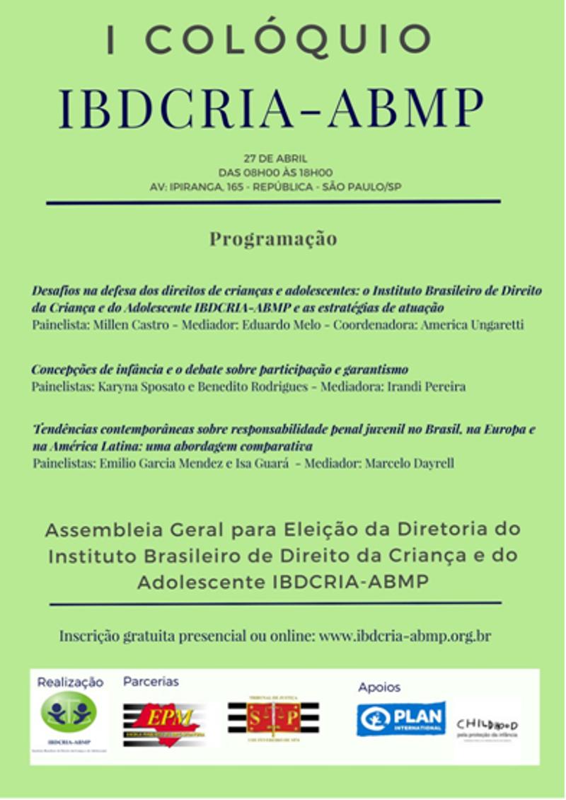 Colóquio em SP discutirá direitos de crianças e adolescentes no próximo dia 27