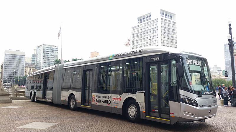 Gestão Doria anuncia ar condicionado e wi-fi em todos os ônibus até 2020