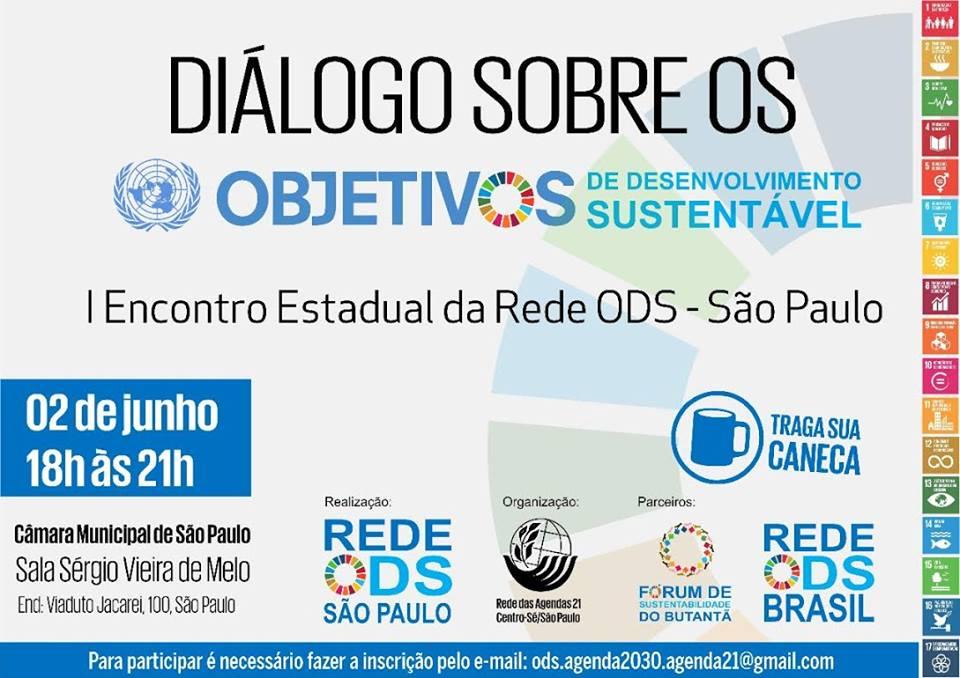 I Encontro Estadual da Rede ODS São Paulo será realizado nesta sexta