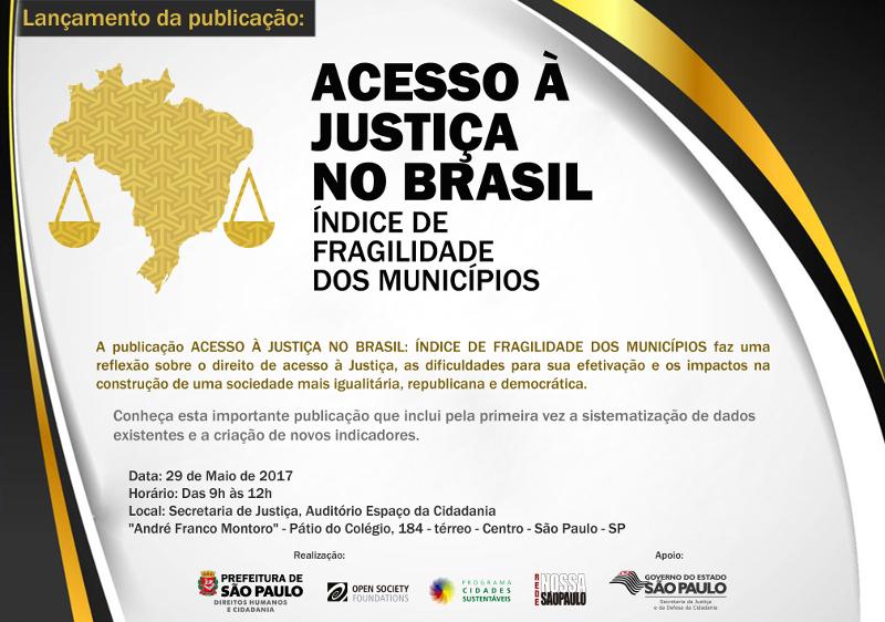 Lançamento da publicação Acesso à Justiça no Brasil: Índice de Fragilidade dos Municípios