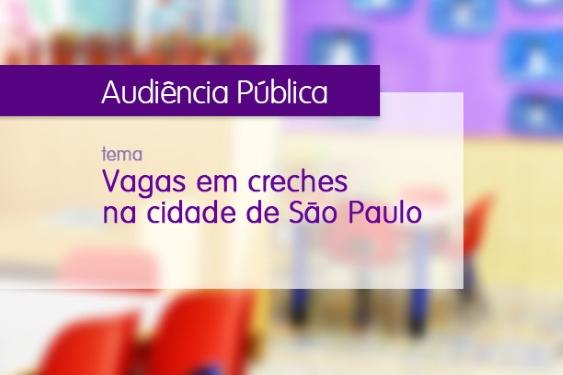TJSP realizará audiência pública sobre vagas em creches na cidade de São Paulo