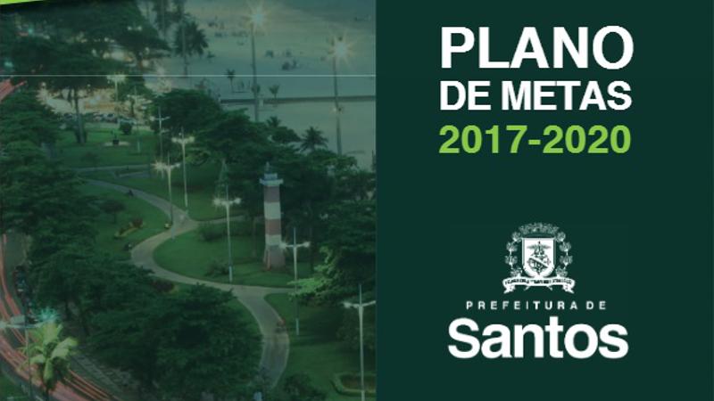 Prefeitura de Santos tem Plano Diretor de Metas para os próximos quatro anos