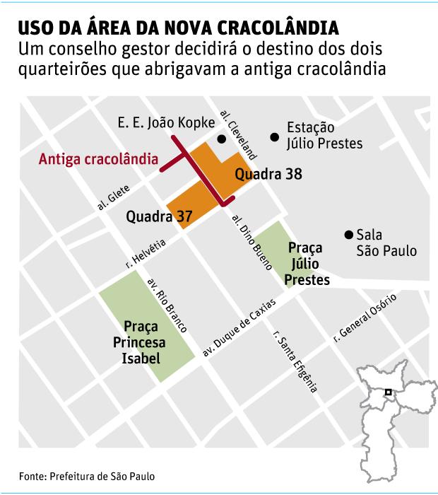Prefeitura se prepara para definir uso de espaço da antiga cracolândia