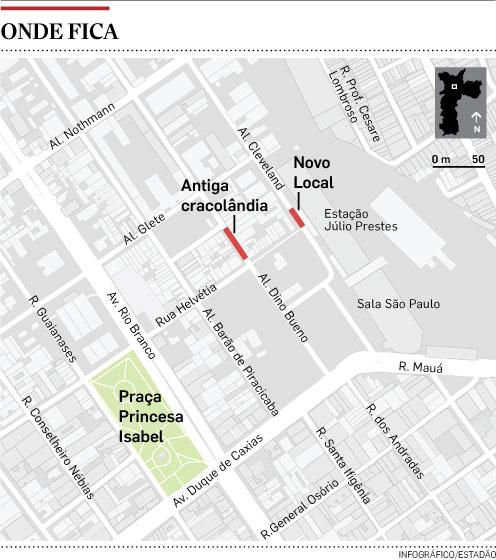 Dependentes químicos deixam Praça Princesa Isabel e retornam à antiga Cracolândia