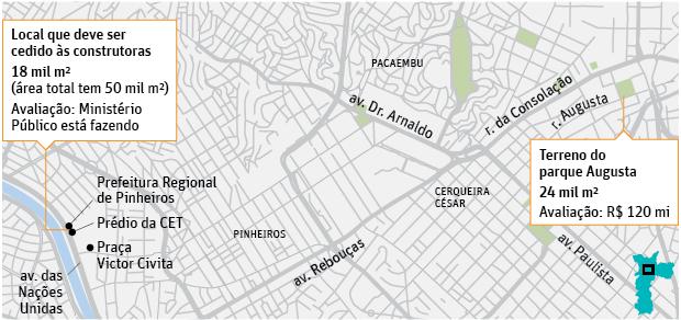 Acordo para parque Augusta prevê troca e contrapartida de R$ 30 mi
