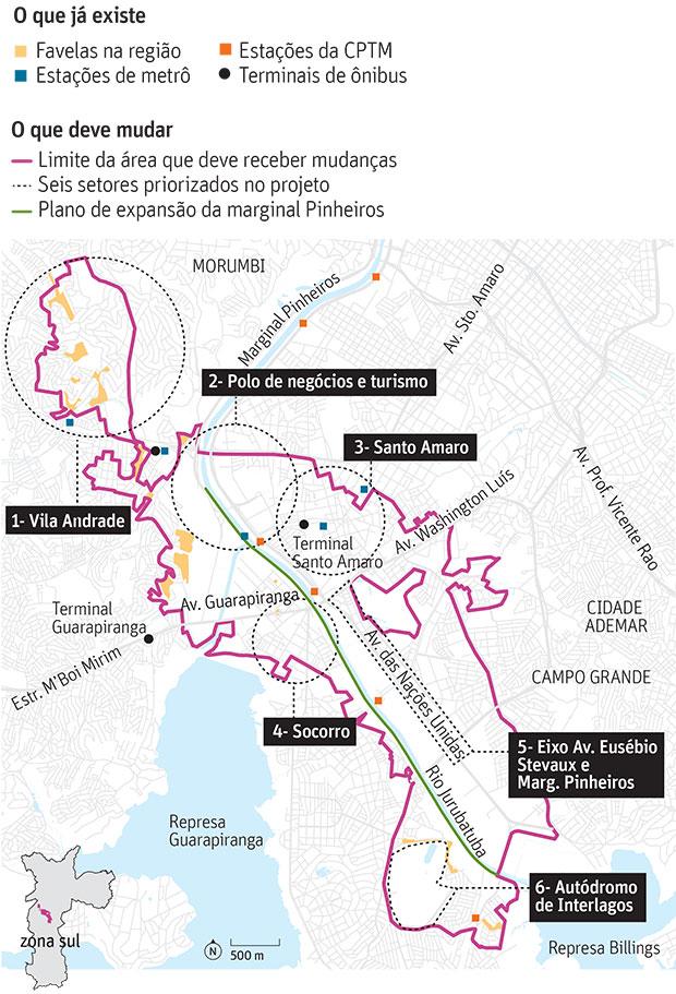 Doria prioriza plano urbanístico em área entre Berrini e Interlagos