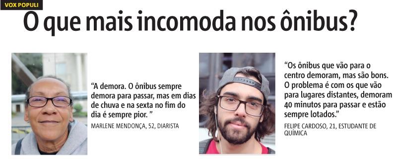 Demora do ônibus é a principal queixa de passageiros na cidade de São Paulo