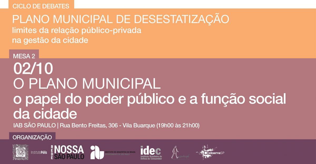 Entidades debatem o papel do poder público e a função social das cidades