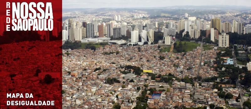 Rede Nossa São Paulo lança nova versão do Mapa da Desigualdade da Cidade