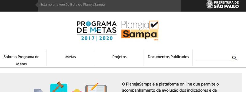 Site 'Planeja Sampa' permite que a população monitore metas da gestão Doria