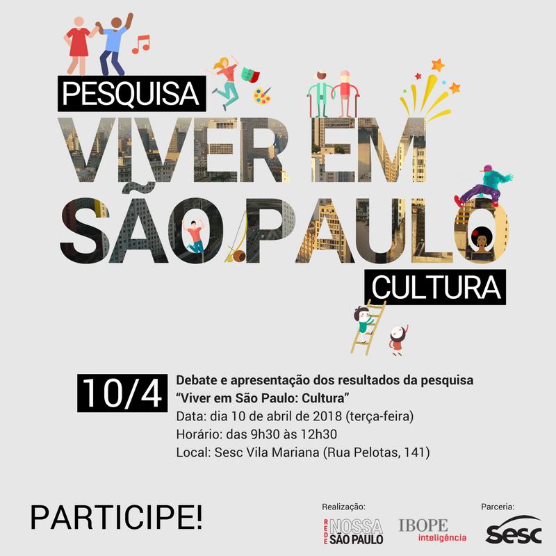 Pesquisa revelará hábitos culturais dos paulistanos