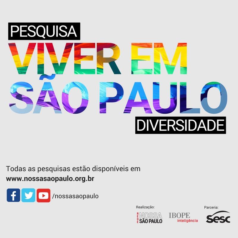 """Diversidade sexual é tema da pesquisa """"Viver em São Paulo"""""""