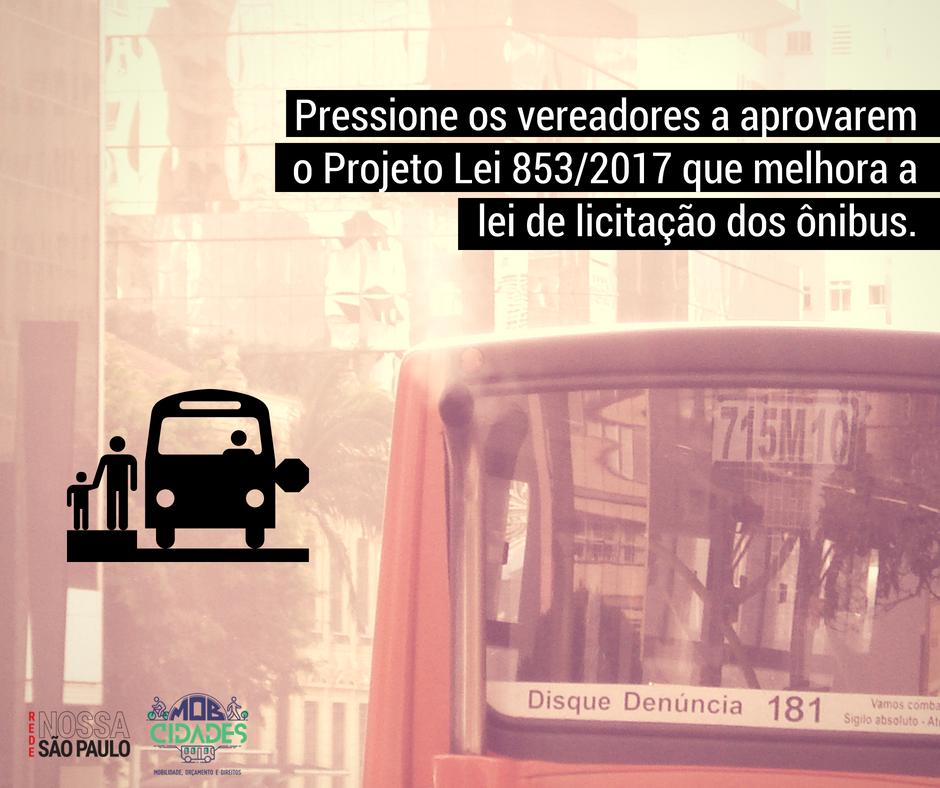 Ônibus na linha – campanha