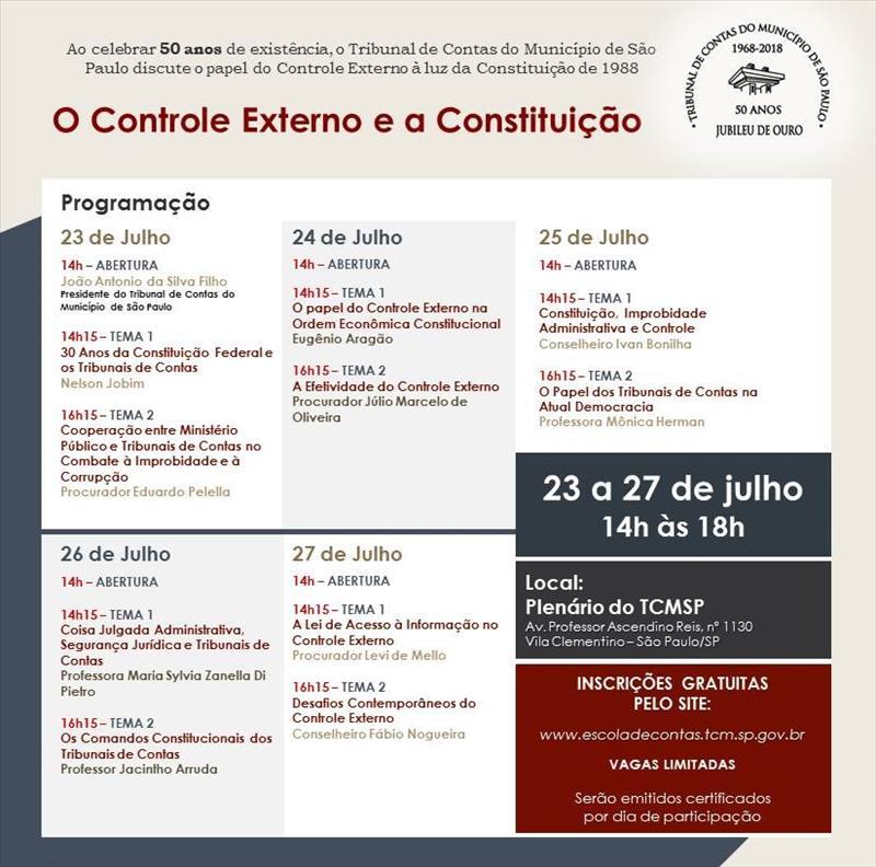 """TCM promove Seminário """"O Controle Externo e a Constituição"""""""